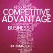 Stock Photo: Word Cloud Competitive Advantage