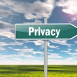 Signpost Privacy — Stock Photo #42147111