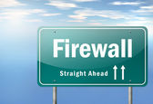 Highway Signpost Firewall — Stockfoto