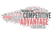 Word Cloud Competitive Advantage — Stock Photo