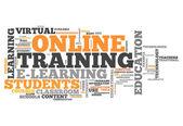 Word Cloud Online Training — Stock Photo