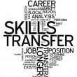 Постер, плакат: Word Cloud Skills Transfer