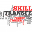 Word Cloud Skills Transfer — Stock Photo