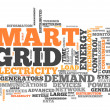 Stock Photo: Word Cloud Smart Grid