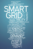 Word Cloud Smart Grid — Stock Photo