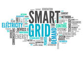 Wort-Wolke-smart-grid — Stockfoto