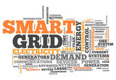 Word Cloud Smart Grid — Stock Photo