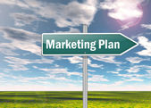 Signpost Marketing Plan — Stock Photo