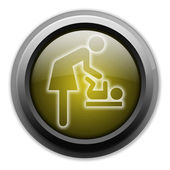 "Icon, Button, Pictogram ""Baby Change"" — Stock Photo"