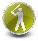 Icono, botón, béisbol pictograma — Foto de Stock