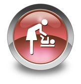 "Icon, Button, Pictogram ""Baby Change"" — Stock Photo"