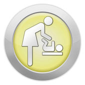 "Icon, Button, Pictogram ""Baby Change"" — Stockfoto"