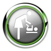 "Icon, Button, Pictogram ""Baby Change"" — Stok fotoğraf"