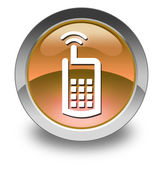 Icon, Button, Pictogram Cell Phone — Stock Photo
