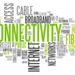 Stock Photo: Word Cloud Connectivity