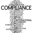 Stock Photo: Word Cloud Compliance