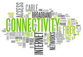 Word Cloud Connectivity — Stock Photo