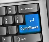 Keyboard Illustration Compliance — Stock Photo