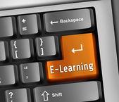 Keyboard Illustration E-Learning — Stock Photo