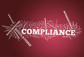 Word Cloud Compliance — Stock Photo
