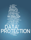 Word Cloud Data Protection — Stock Photo