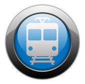 "Icon Button Pictogram ""Train, Mass Transit"" — Stock Photo"