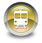 "Icon Button Pictogram ""Train, Mass Transit"" — Stock Photo"