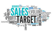 Word Cloud Sales Target — Stock Photo