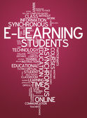 Word Cloud E-Learning — Foto Stock