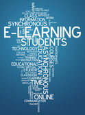 Word Cloud E-Learning — Stock Photo