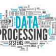 Word Cloud Data Processing — Stock Photo