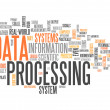 Word Cloud Data Processing — Stock Photo #42631959