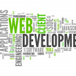 Word Cloud Web Development — Foto de Stock