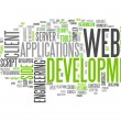 Word Cloud Web Development — Stock Photo #42632001