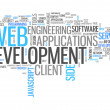 Word Cloud Web Development — Stock Photo #42632005