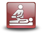 Icon, Button, Pictogram Physical Therapy — Stock Photo