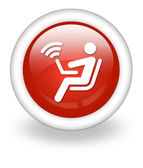 Icon, Button, Pictogram Wireless Access — Stock Photo