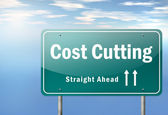 Highway Signpost Cost Cutting — Stock Photo