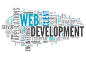 Word Cloud Web Development — Stock Photo