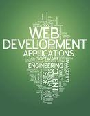 Word Cloud Web Development — Stock Photo