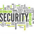 Word Cloud Security — Stock Photo