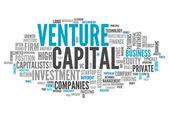 Palavra nuvem venture capital — Fotografia Stock