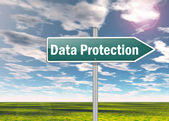 Signpost Data Protection — Stock Photo