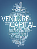 Word Cloud Venture Capital — Stock Photo