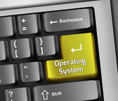 Keyboard Illustration Operating System — ストック写真