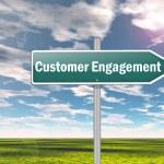 Signpost Customer Engagement — Stock Photo