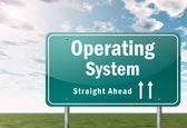 Highway Signpost Operating System — Stockfoto