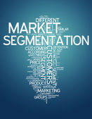 Word Cloud Market Segmentation — Stock fotografie