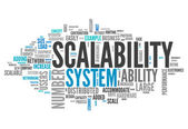 Word Cloud Scalability — Stockfoto