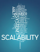 Word Cloud Scalability — Stock Photo